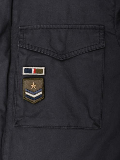 Куртка из хлопка, с накладными карманами  - Деталь