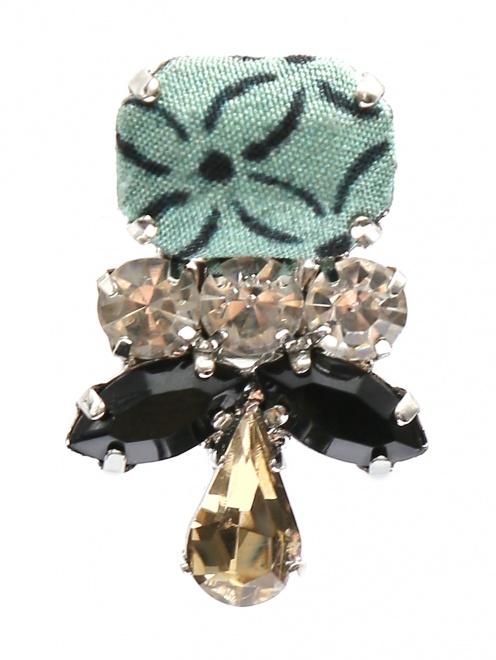 Клипсы из металла с кристаллами  - Обтравка1