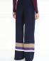 Шелковые брюки с контрастными вставками Alberta Ferretti  –  Модель Верх-Низ1