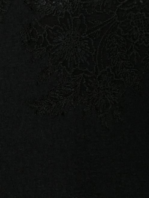 Платье из шерсти ,шелка и кашемира с кружевом - Деталь
