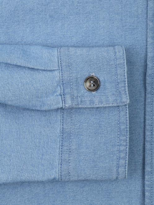 Рубашка хлопковая прямого кроя - Деталь1