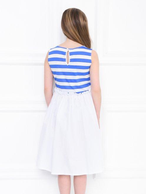 Платье трикотажное с полосатым верхом - МодельВерхНиз1