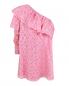 Перфорированное платье из хлопка с одним рукавом MSGM  –  Общий вид