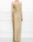 Платье-макси на бретелях из фактурного материала Alberta Ferretti  –  МодельВерхНиз