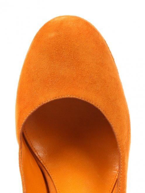 Туфли из замши на высоком каблуке - Обтравка3