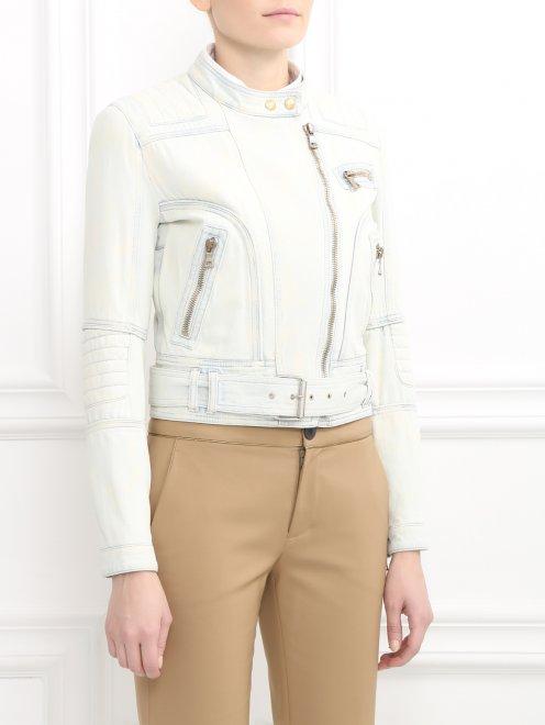 Куртка джинсовая  - Модель Верх-Низ