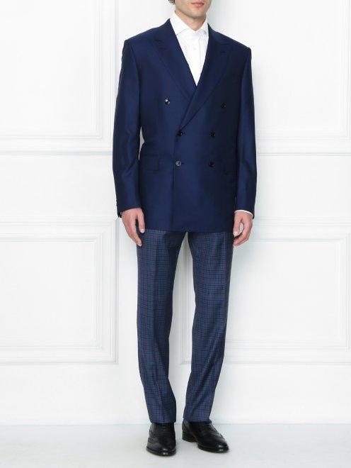 Двубортный пиджак из шерсти - Общий вид