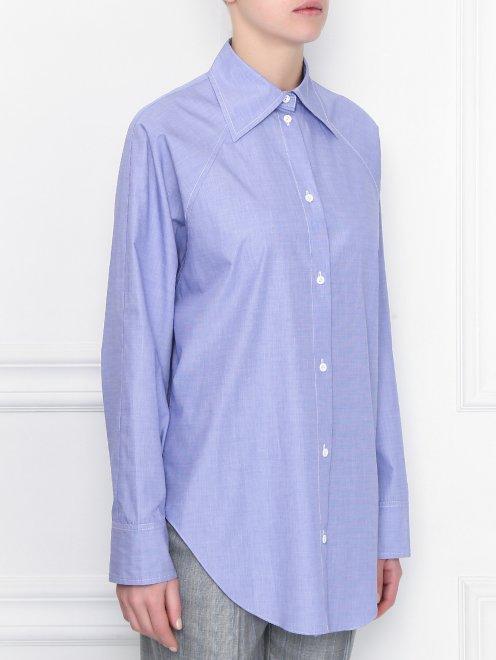 Блуза свободного кроя из хлопка - МодельВерхНиз
