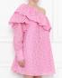 Перфорированное платье из хлопка с одним рукавом MSGM  –  МодельВерхНиз