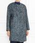 Пальто из смешанной шерсти с узором Cedric Charlier  –  Модель Верх-Низ