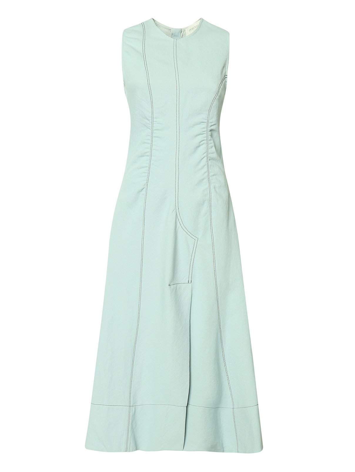 Платье из льняного денима Sportmax  –  Общий вид