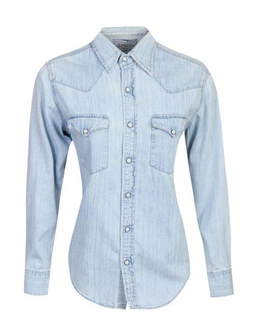 Рубашка из хлопка на кнопках - Общий вид