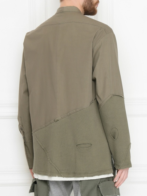 Комбинированная куртка из хлопка - МодельВерхНиз1
