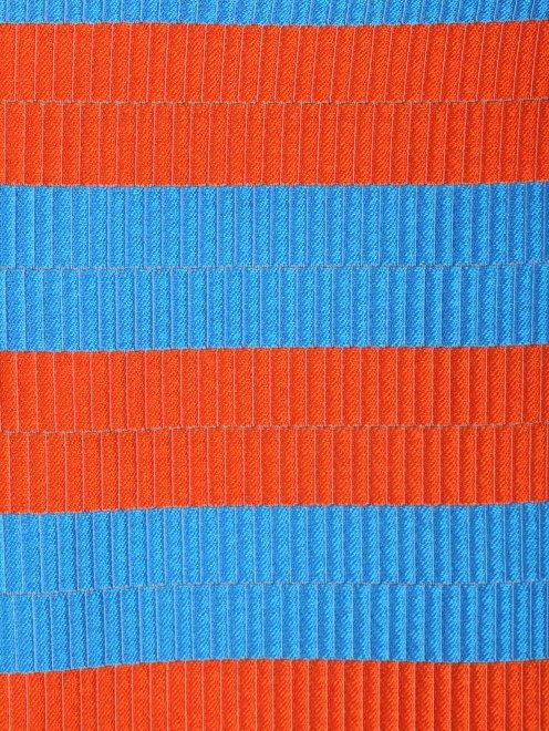 Юбка в полоску из ткани с добавлением шелка - Общий вид