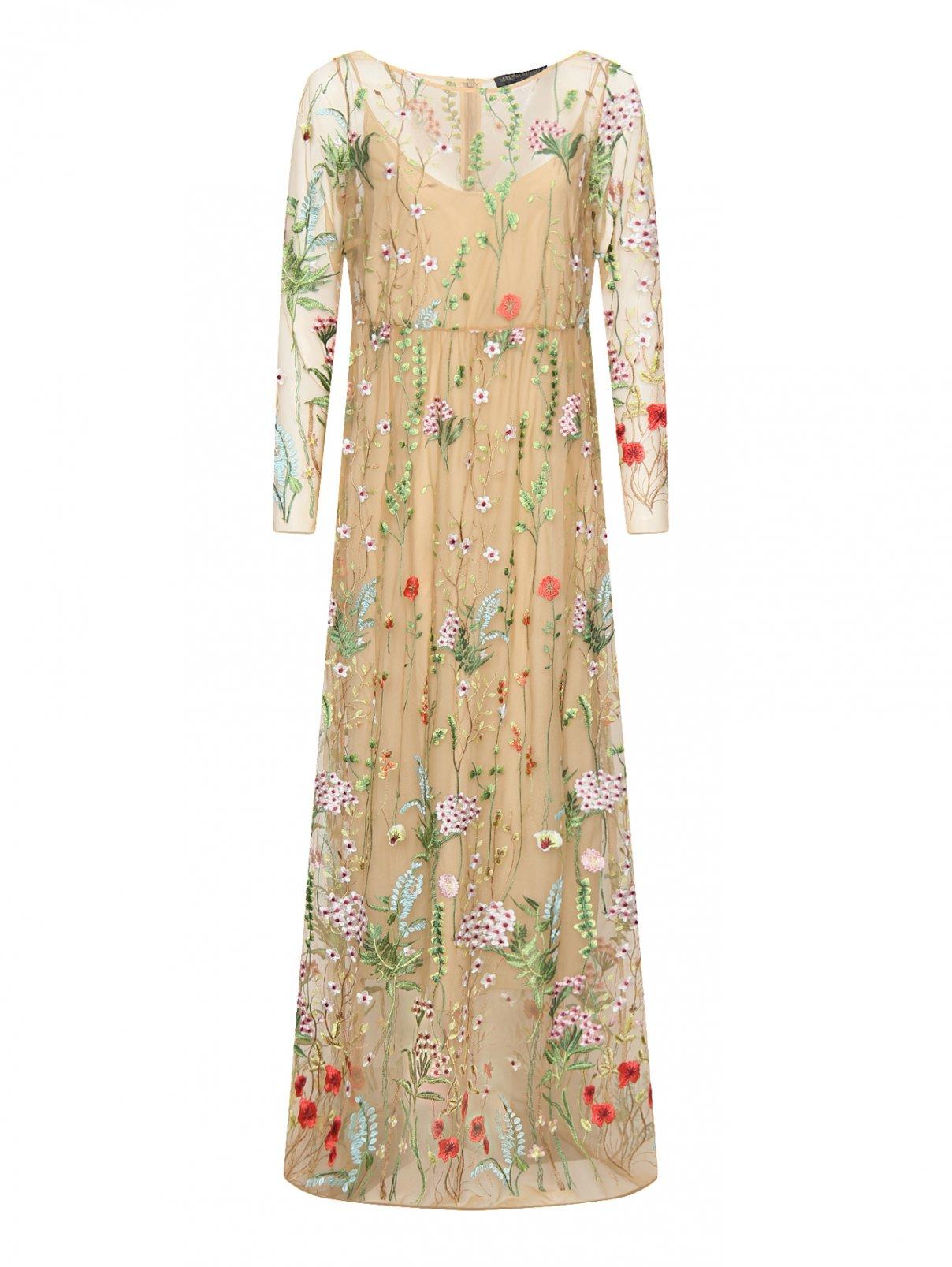 Платье-макси с цветочным узором Marina Rinaldi  –  Общий вид