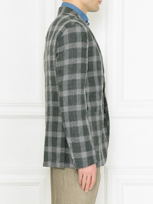 Пиджак из шерсти и льна  - МодельВерхНиз2