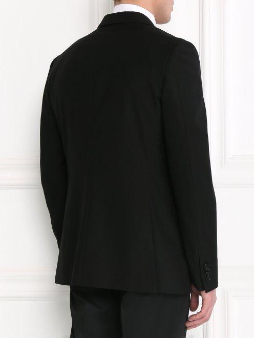 Пиджак однобортный из тонкой шерсти - Модель Верх-Низ1