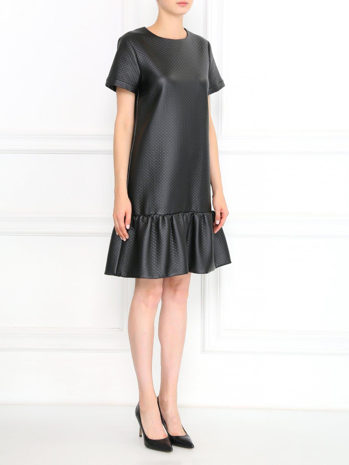 Платье-мини из фактурной ткани Moschino Boutique  –  Модель Общий вид