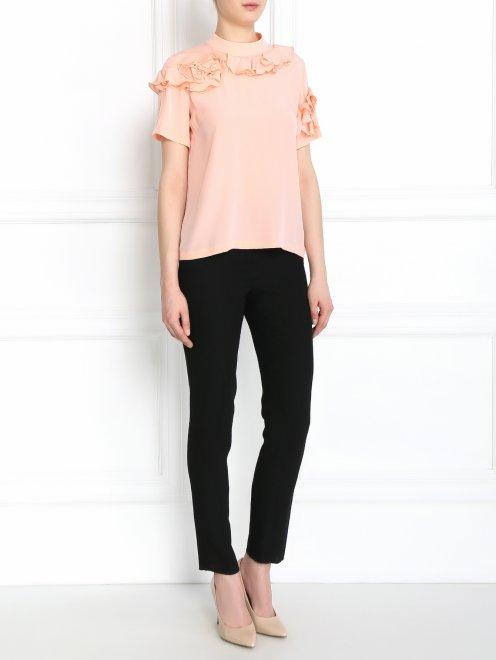 Блуза из шелка с декором - Общий вид