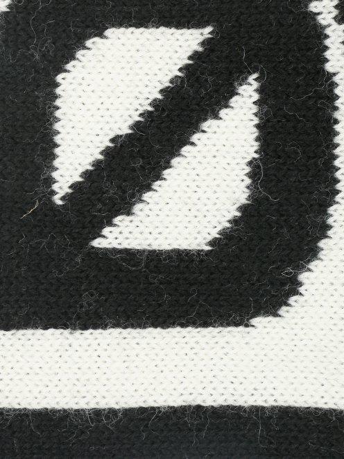 Шарф из шерсти с узором - Деталь1