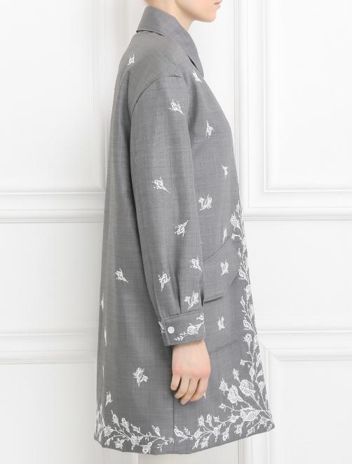 Пальто из шерсти с вышивкой - Модель Верх-Низ2