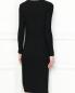 Трикотажное платье-миди в рубчик Lei 1984  –  МодельВерхНиз1