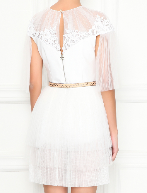 Платье-мини с ремнем - МодельВерхНиз1