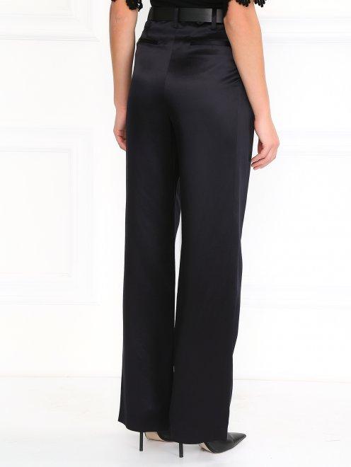 Шелковые брюки прямого фасона - Модель Верх-Низ1