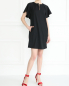 Платье-мини из шерсти свободного кроя с карманами Emporio Armani  –  МодельОбщийВид