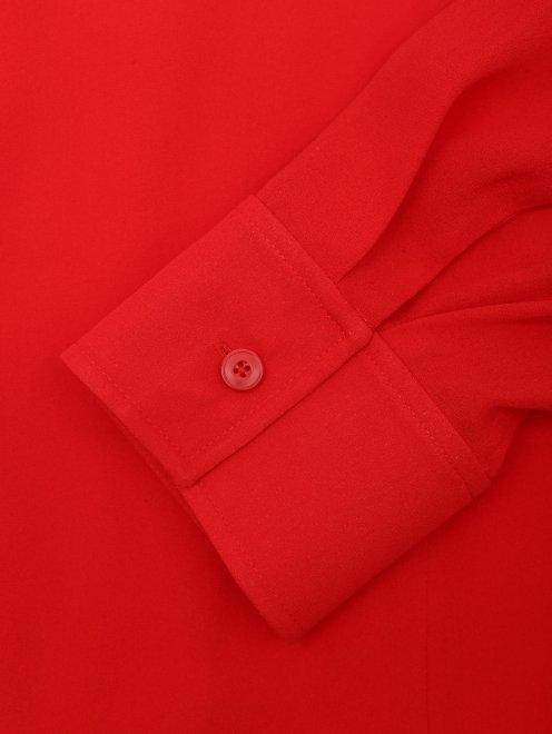 Блуза из шелка свободного силуэта - Деталь1