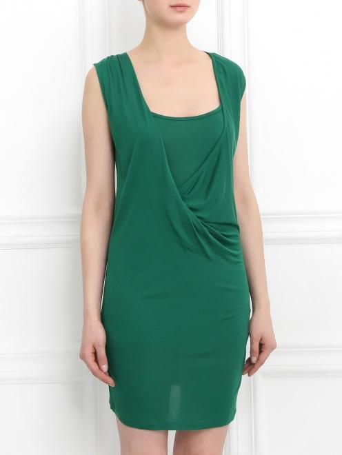Платье-мини с драпировкой  - Модель Верх-Низ